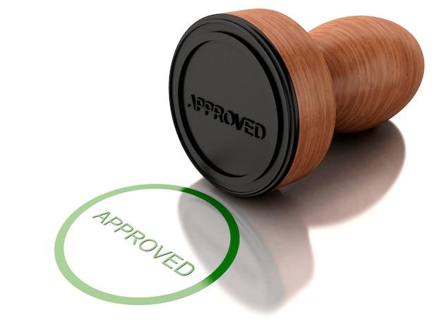 Timbre 3d approuvé Photo Premium