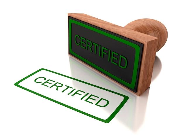 Timbre 3d certifié Photo Premium
