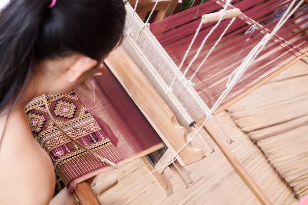 Tissage, thaïlande Photo Premium