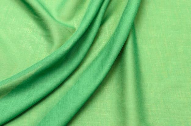 Tissu en coton vert cambrique Photo Premium