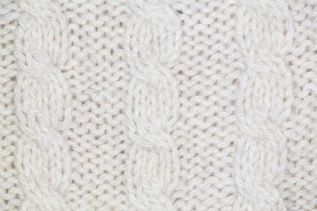 Tissu de laine blanche Photo Premium
