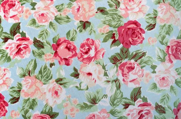 Tissu rose motif Photo Premium