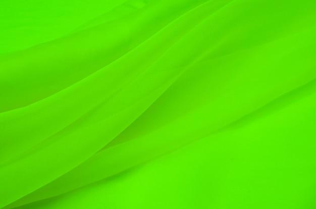 Tissu en soie couleur vert organza. Photo Premium