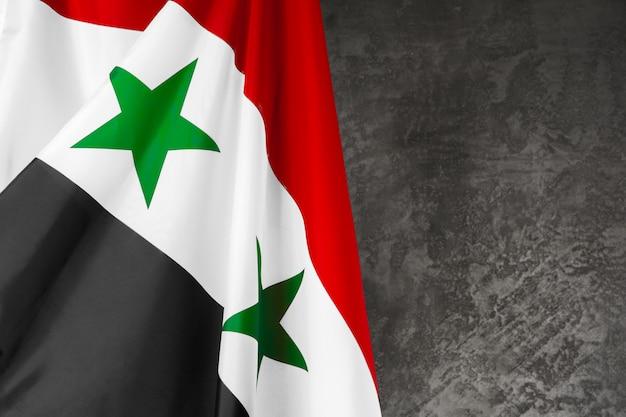 Tissu Syrie Drapeau Bouchent Photo Premium
