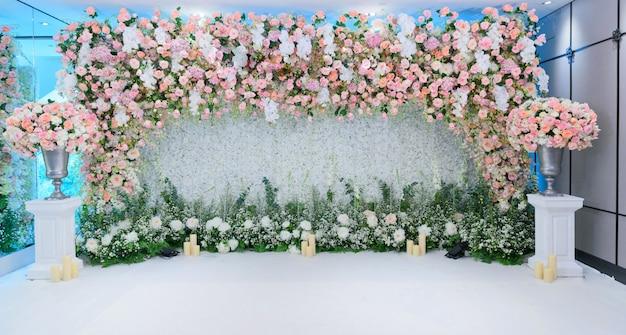 Toile de fond de fleurs de mariage, coloré, rose fraîche, bouquet de fleurs Photo Premium