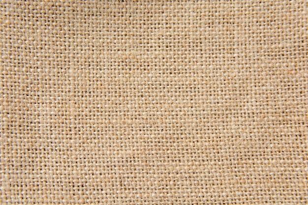 Toile de jute marron, fond de texture d'un sac Photo Premium