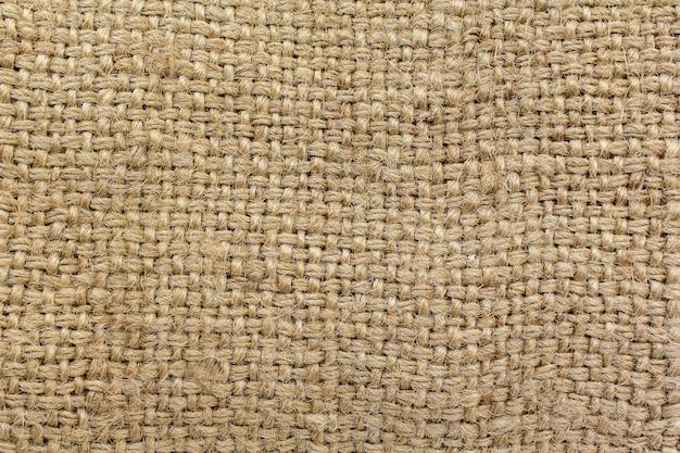 Toile de jute en tissu naturel, fond marron Photo Premium