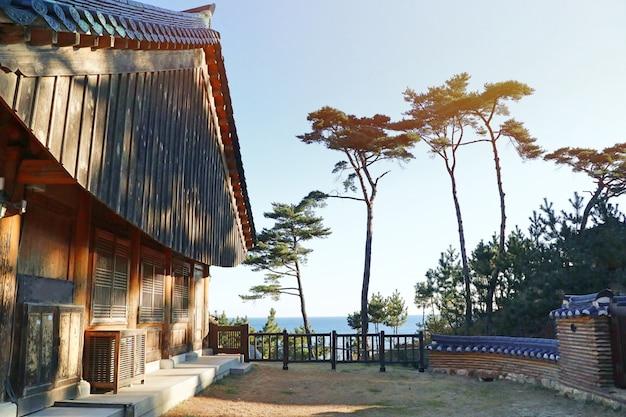 Toit D'architecture Traditionnelle Coréenne Photo Premium