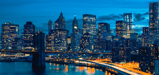 Toits Du Centre-ville De New York, New York, Usa Photo Premium