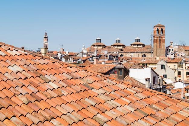 Les Toits De Venise Vus D'en Haut Photo Premium