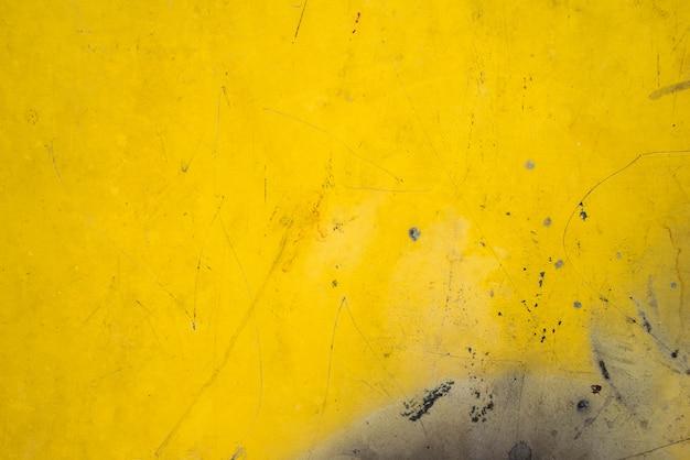 Tôle jaune acier métal texture rouillée pour le fond Photo Premium