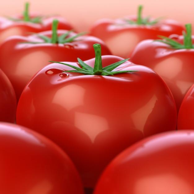 Tomates Rouges Brillantes Photo gratuit
