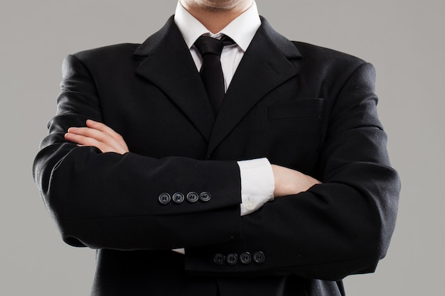 Torse d'homme d'affaires en costume Photo gratuit