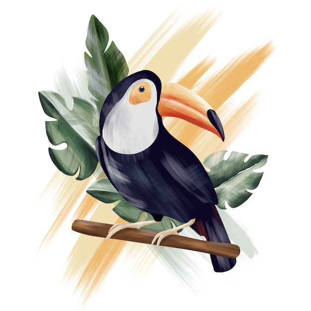 Toucan-tropical-collection-jungle Photo Premium