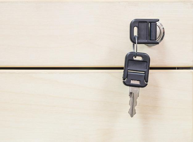 Touches agrandi au fond de texture de tiroir en bois Photo Premium