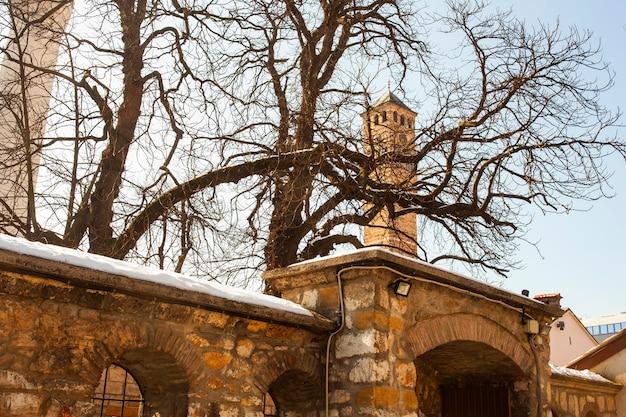 La tour de l'horloge à sarajevo Photo Premium