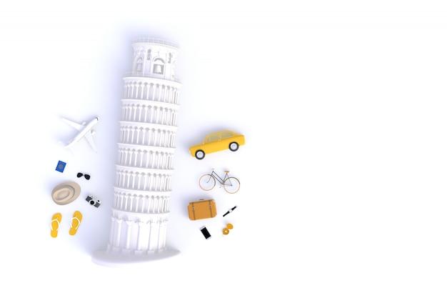 Tour penchée de pise, italie, europe, architecture italienne Photo Premium