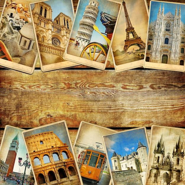 Tourisme de carte postale Photo Premium
