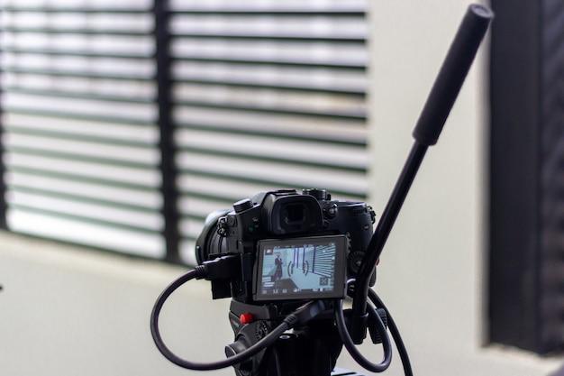 Tournage de production vidéo avec équipement photographique Photo Premium