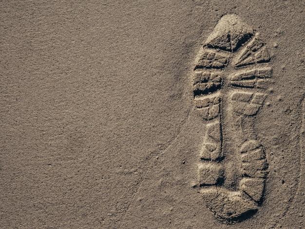 Traces de pas dans le sable Photo Premium