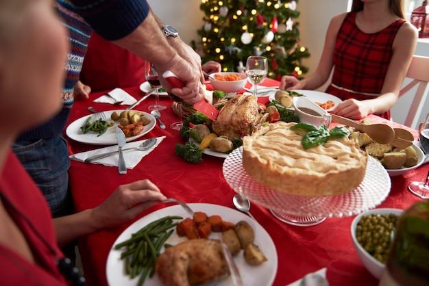 Tradition Chaque Année Pendant La Veille De Noël Photo gratuit