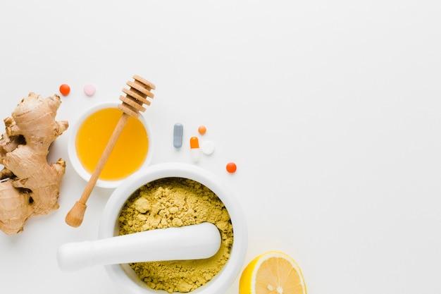 Traitement Naturel Et Pilules De Pharmacie à Plat Photo gratuit