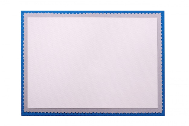 Trame vierge blanche de carte de noël isolé Photo gratuit