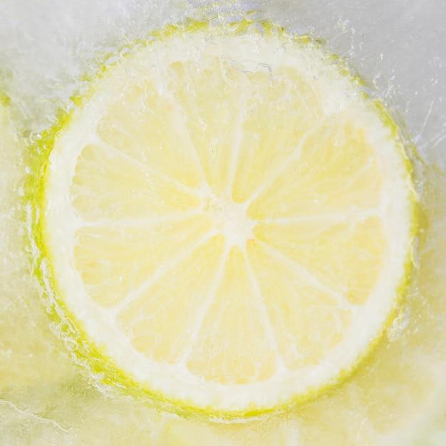 Tranche de citron congelé Photo gratuit