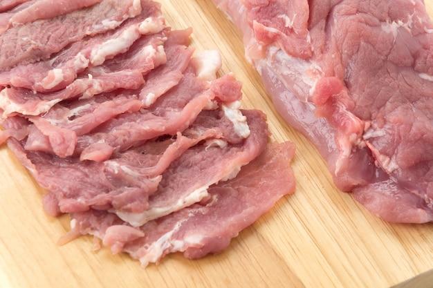 Tranche de porc Photo gratuit