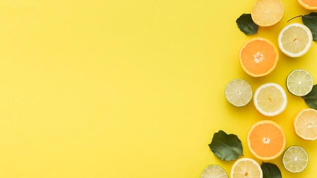 Tranches D'agrumes D'oranges Et De Citrons Photo gratuit