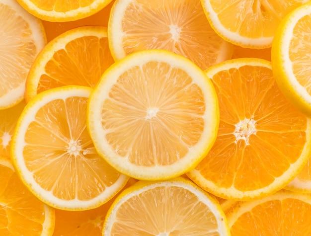 Tranches de citron et de citron vert Photo gratuit