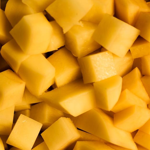 Tranches de gros plan de fond de texture d'ananas Photo gratuit