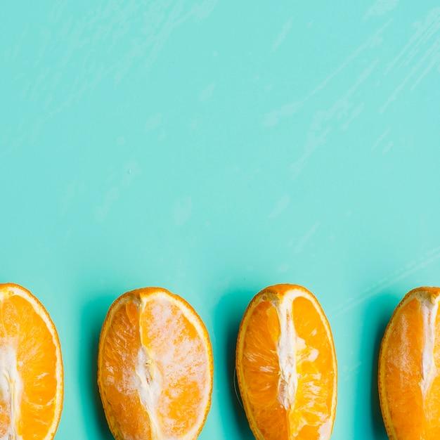 Tranches D'orange Non Congelées Photo gratuit