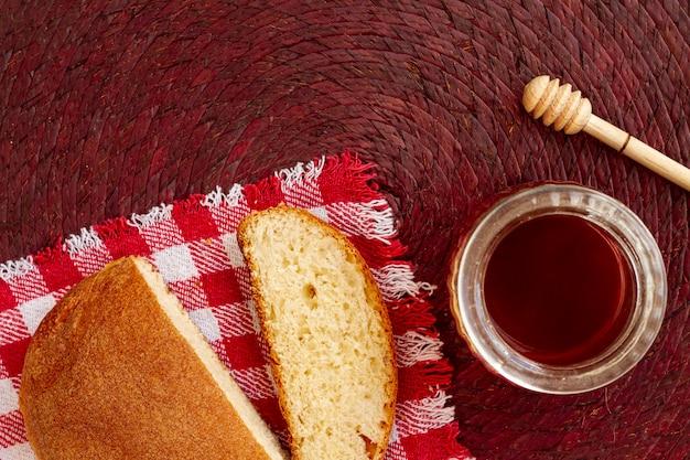 Tranches de pain avec vue de dessus de confiture Photo gratuit