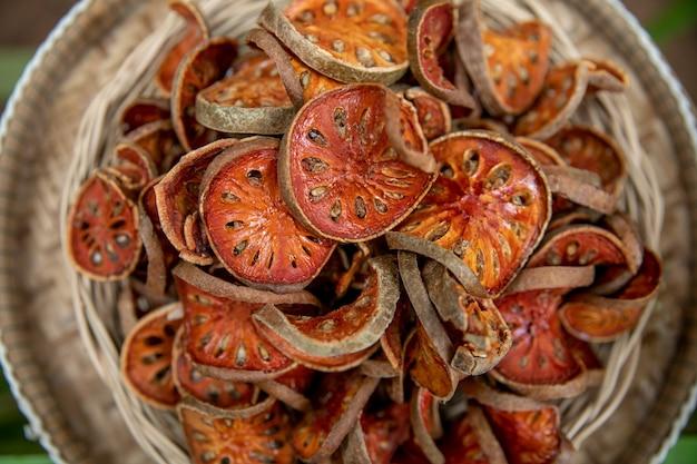Tranches De Thé Séchées Bale Fruit Photo Premium