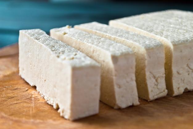 Tranches De Tofu Cru Photo Premium