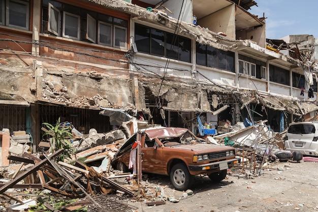 Tremblement de terre Photo Premium