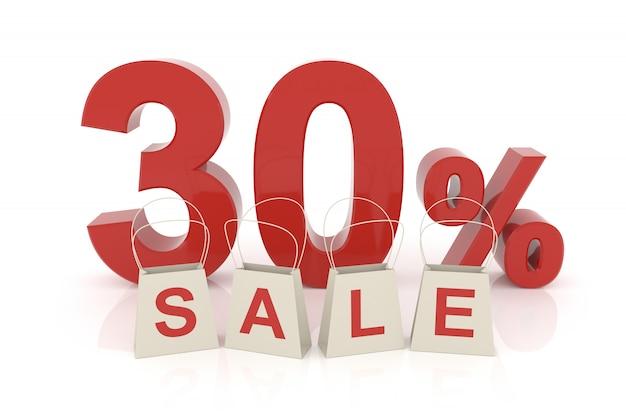 Trente pour cent de vente Photo Premium