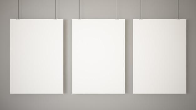 Trois affiches vierges Photo Premium