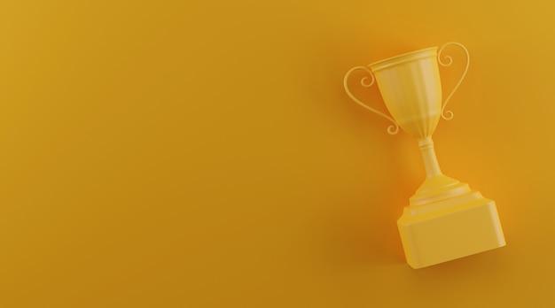 Trophée Avec Espace Copie. Photo Premium