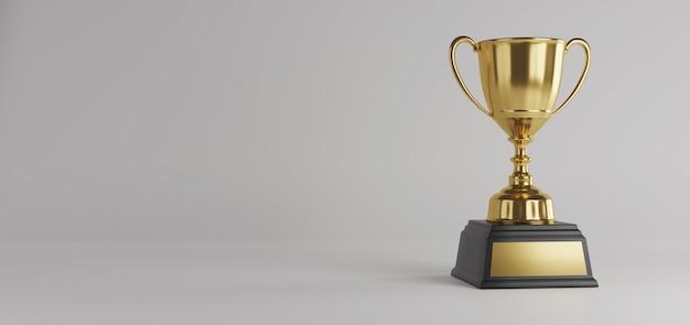 Trophée D'or Avec Espace De Copie. Photo Premium