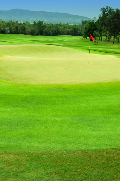 Trou de golf Photo Premium
