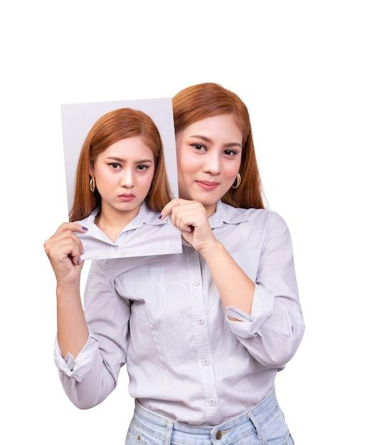 Trouble bipolaire chez une femme asiatique Photo Premium
