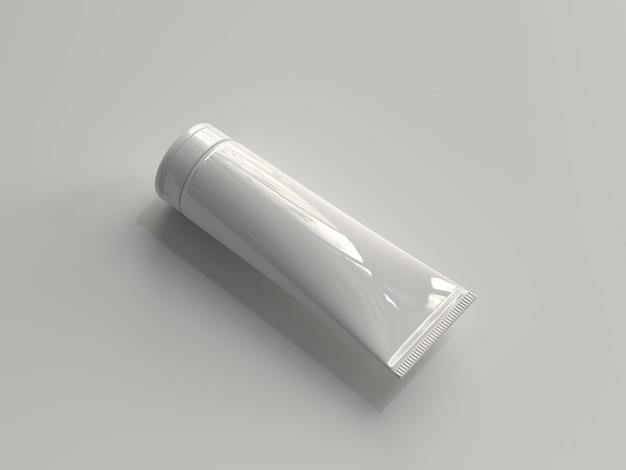Tube cosmétique rendu 3d sans étiquette Photo Premium