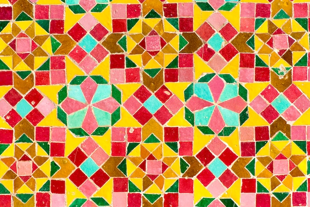 Tuiles marocaines avec des motifs arabes traditionnels, des motifs de carreaux de céramique Photo Premium