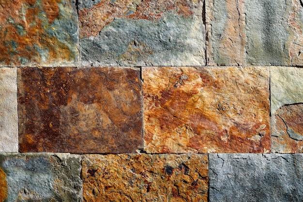 Tuiles de texture colorée pierre ardoise Photo Premium