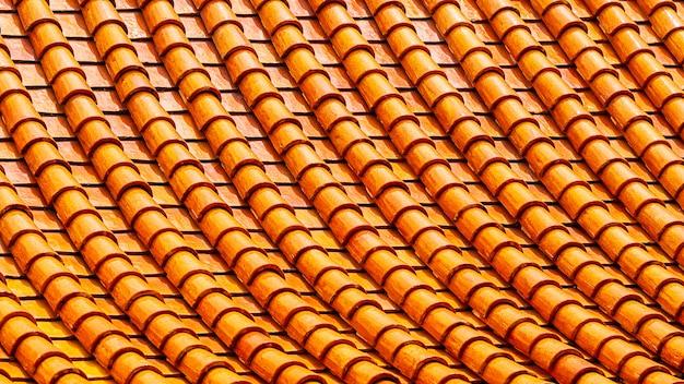 Tuiles de toit d'argile orange abstrait Photo Premium