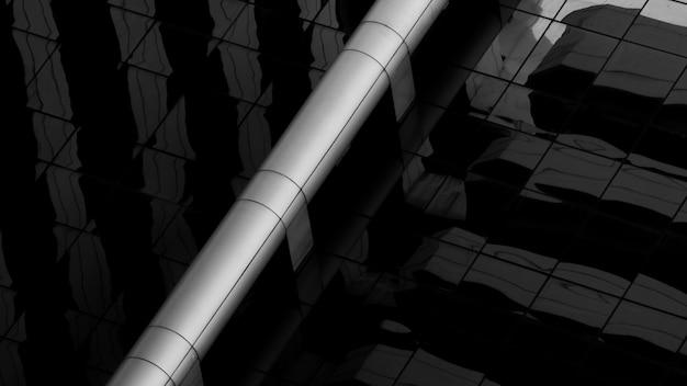 Tuyaux de ventilation en acier dans un bâtiment moderne. Photo Premium