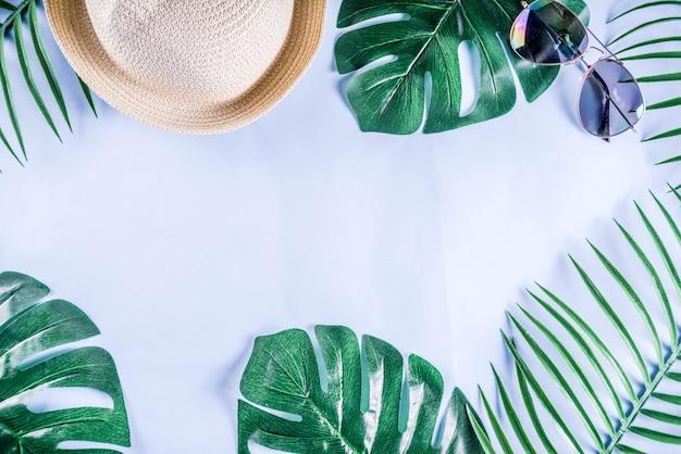 Vacances D'été Et Vacances Colorées à Plat Photo Premium