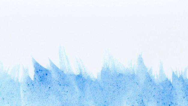 Vagues Aquarelles De Fond Abstrait De Peinture Bleue Photo Premium